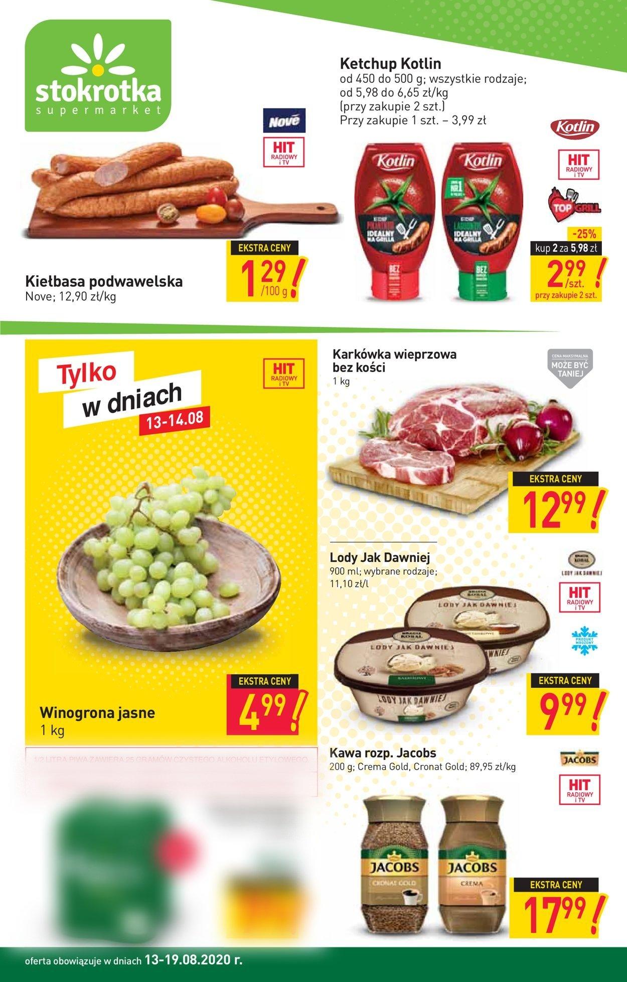 Gazetka promocyjna Stokrotka - 13.08-19.08.2020