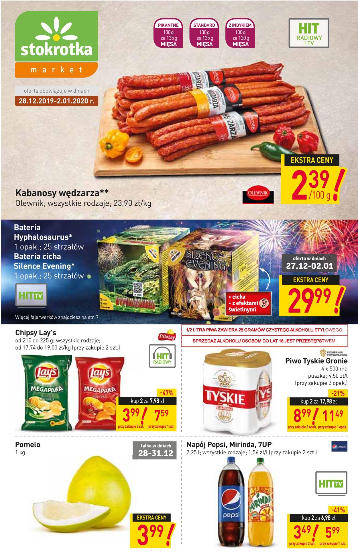Gazetka promocyjna Stokrotka - Gazetka Sylwestrowa 2019/2020 - 28.12-02.01.2020