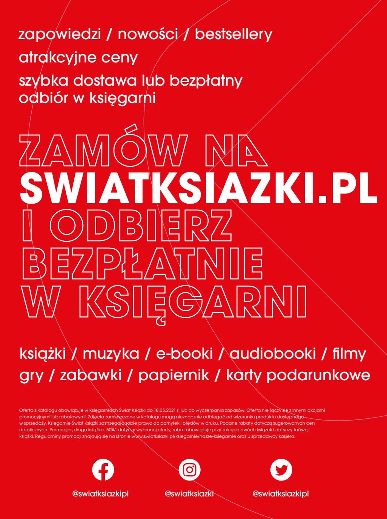 Gazetka promocyjna Świat Książki - 14.04-18.05.2021 (Strona 40)