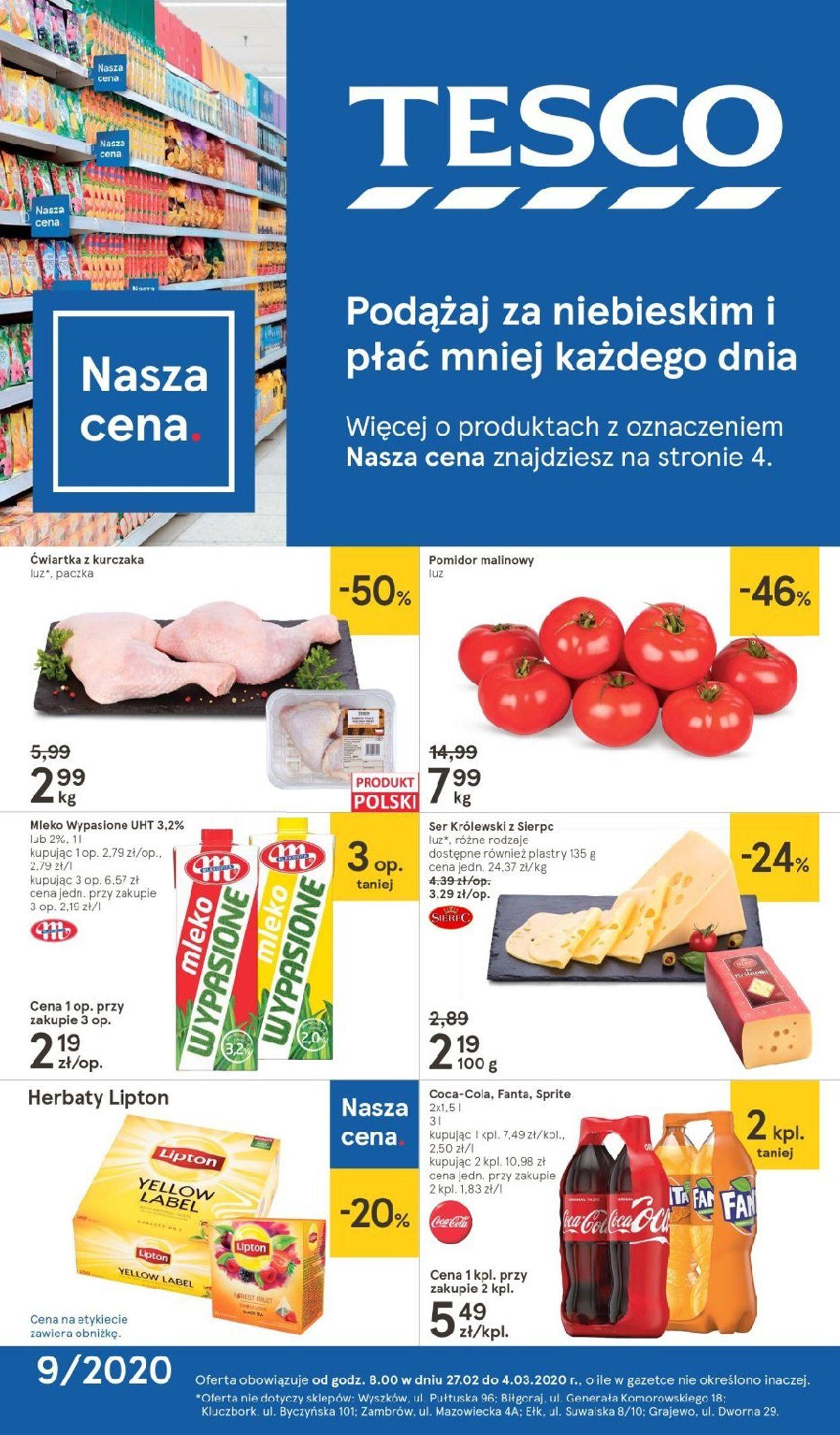 Gazetka promocyjna TESCO - 27.02-04.03.2020