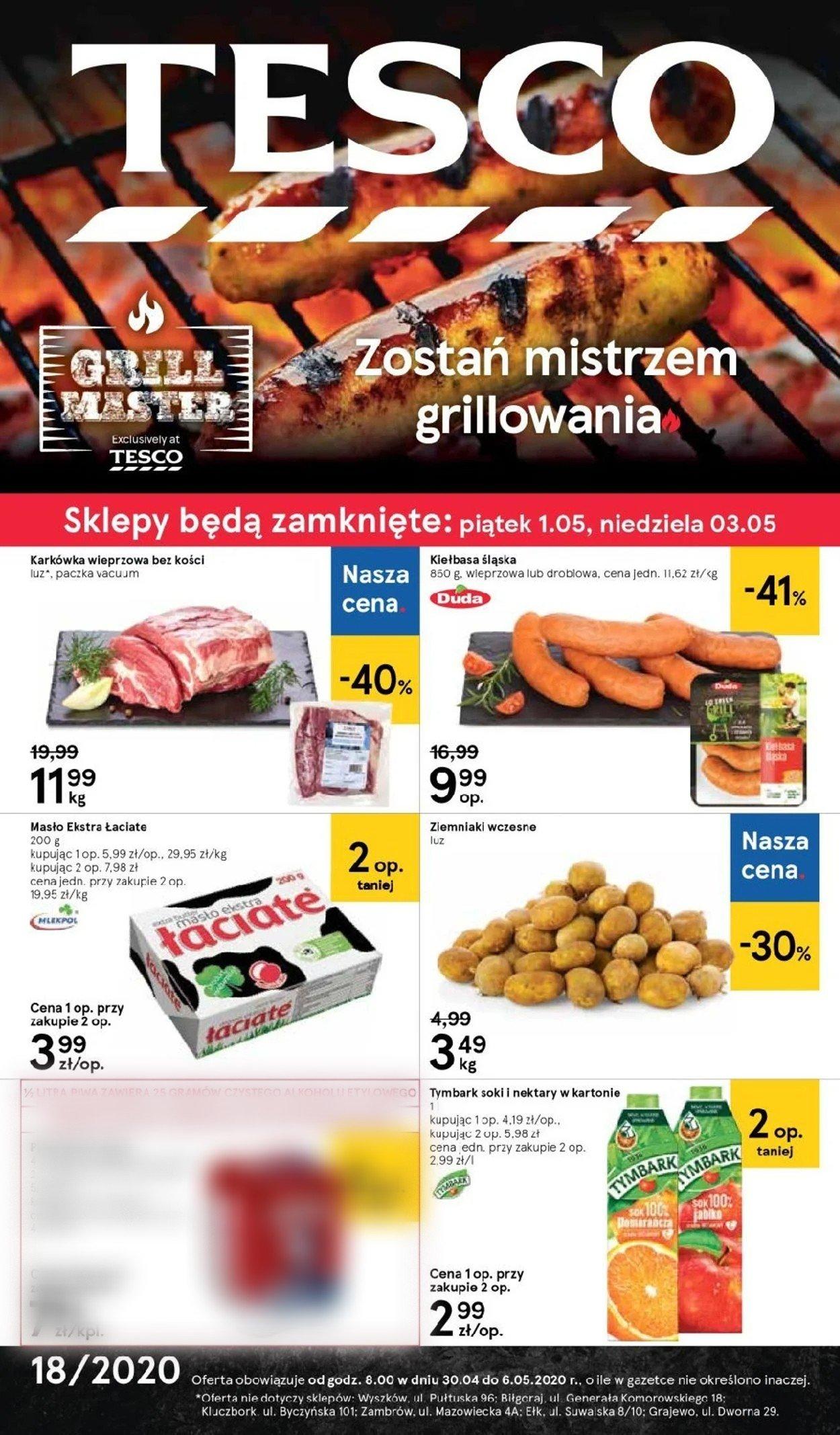 Gazetka promocyjna TESCO - 30.04-06.05.2020