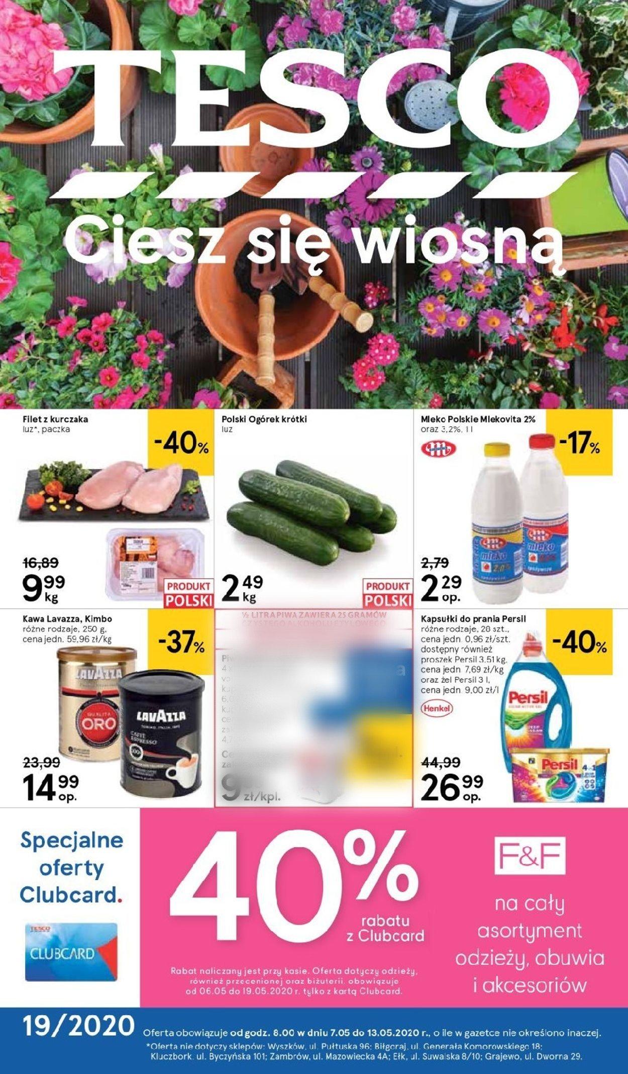 Gazetka promocyjna TESCO - 07.05-13.05.2020