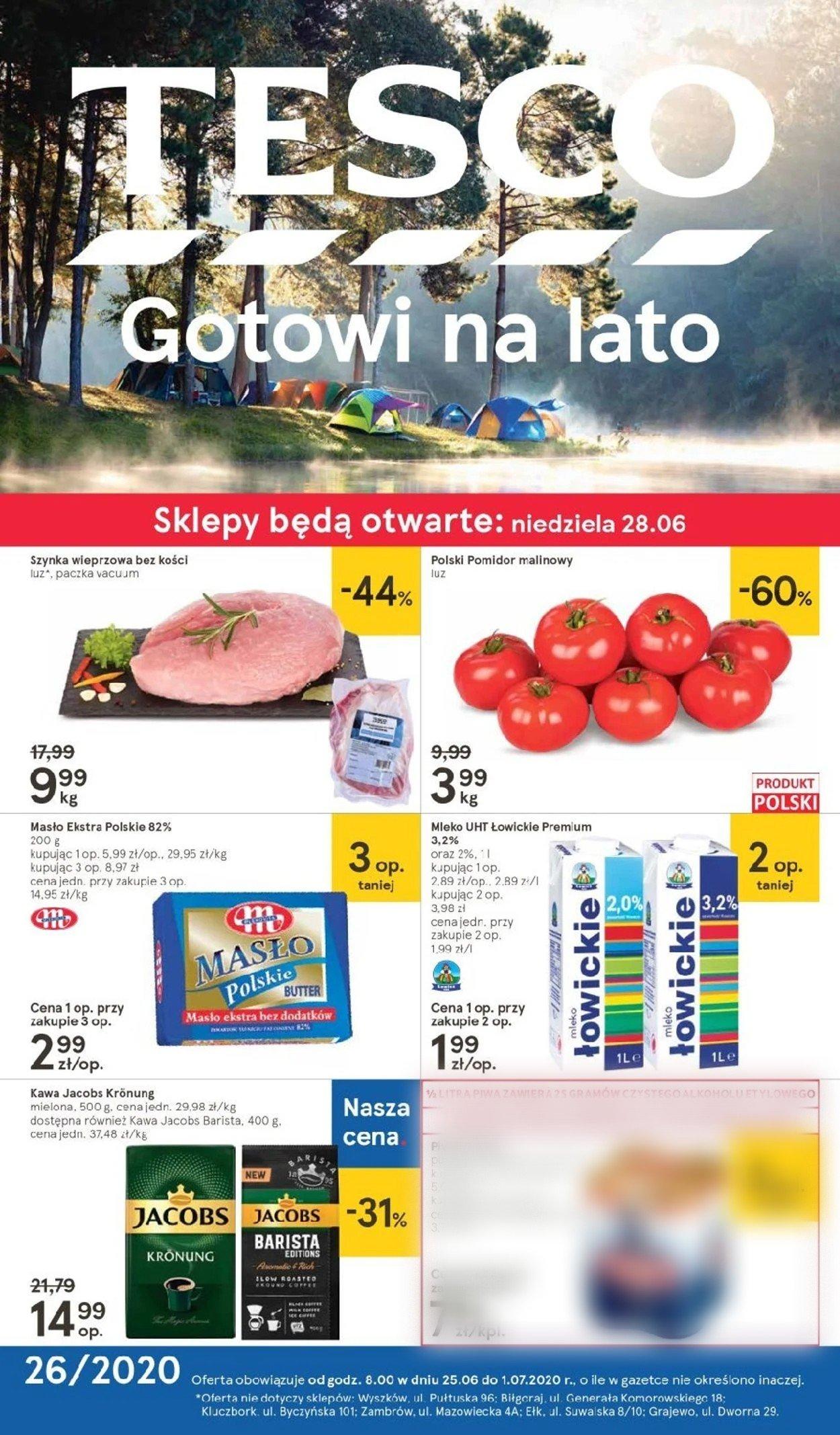 Gazetka promocyjna TESCO - 25.06-01.07.2020