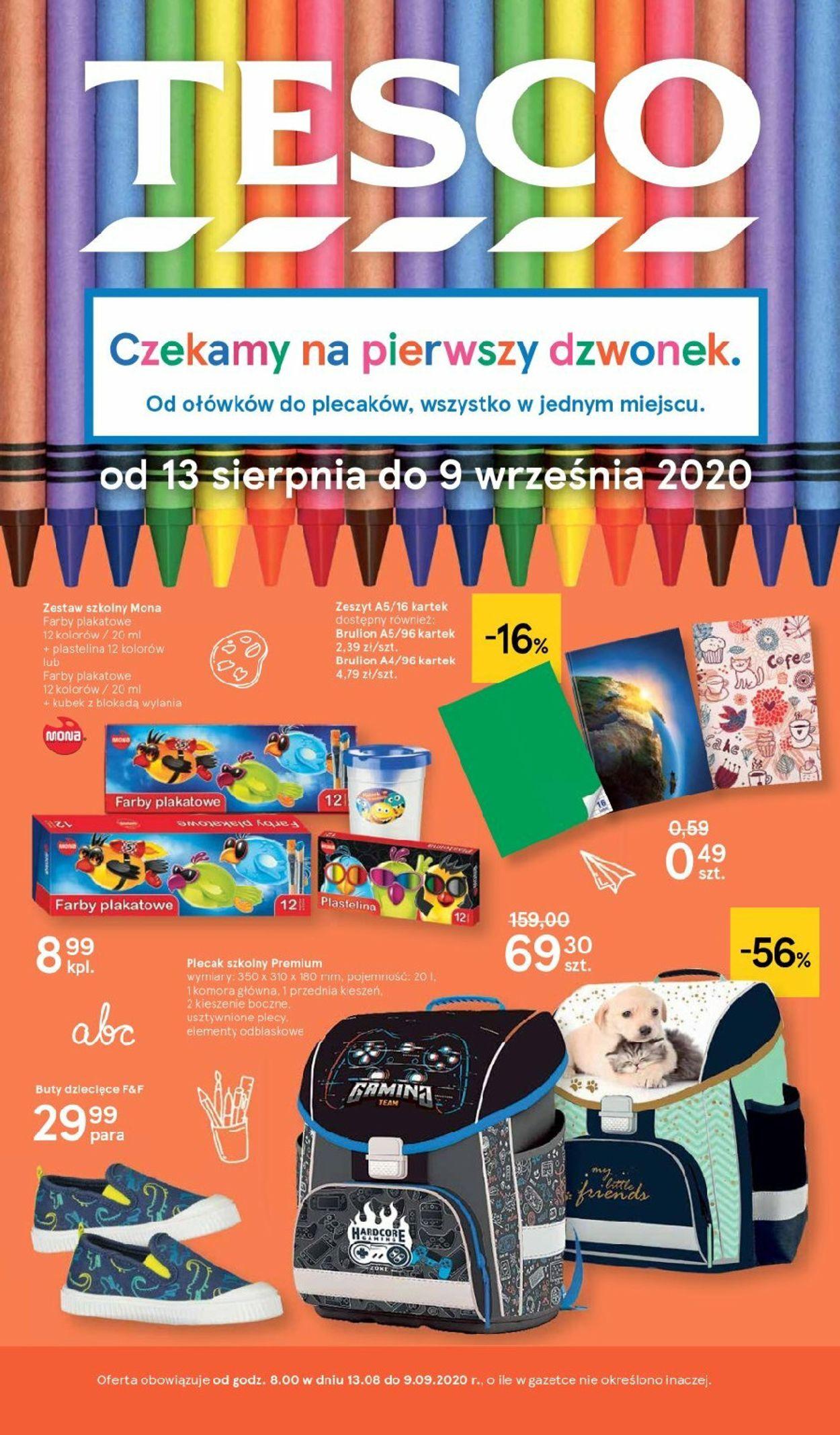 Gazetka promocyjna TESCO - 13.08-09.09.2020