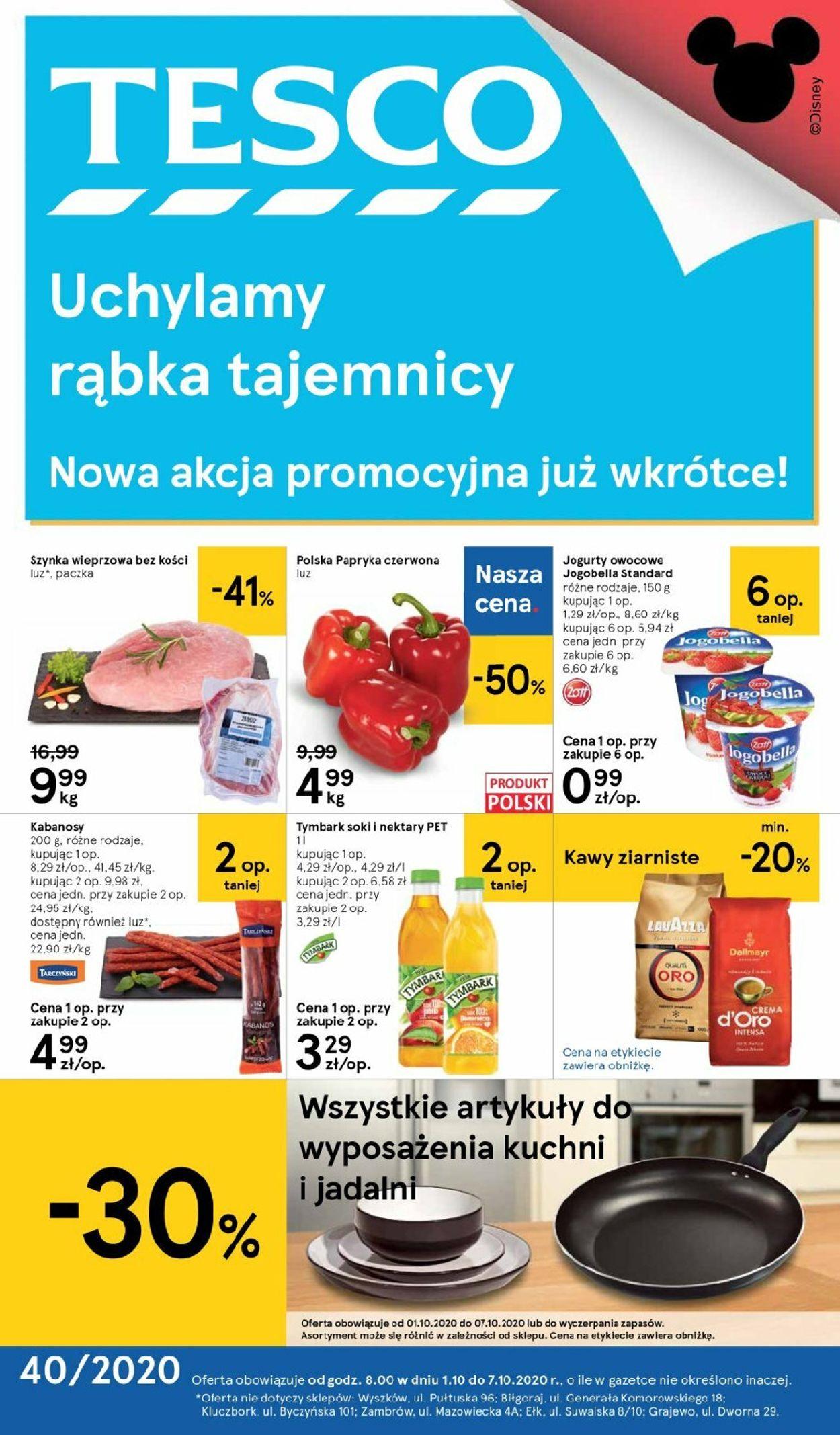 Gazetka promocyjna TESCO - 01.10-07.10.2020