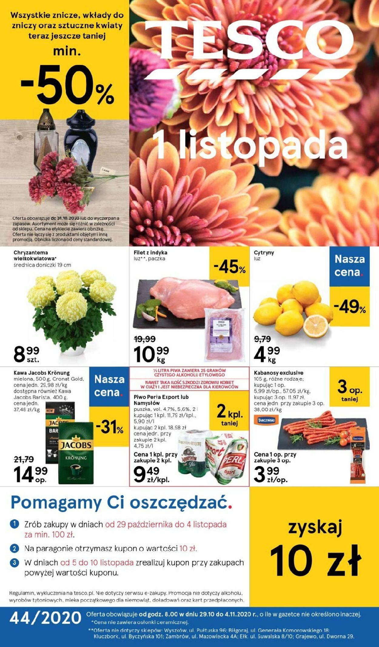 Gazetka promocyjna TESCO - 29.10-04.11.2020