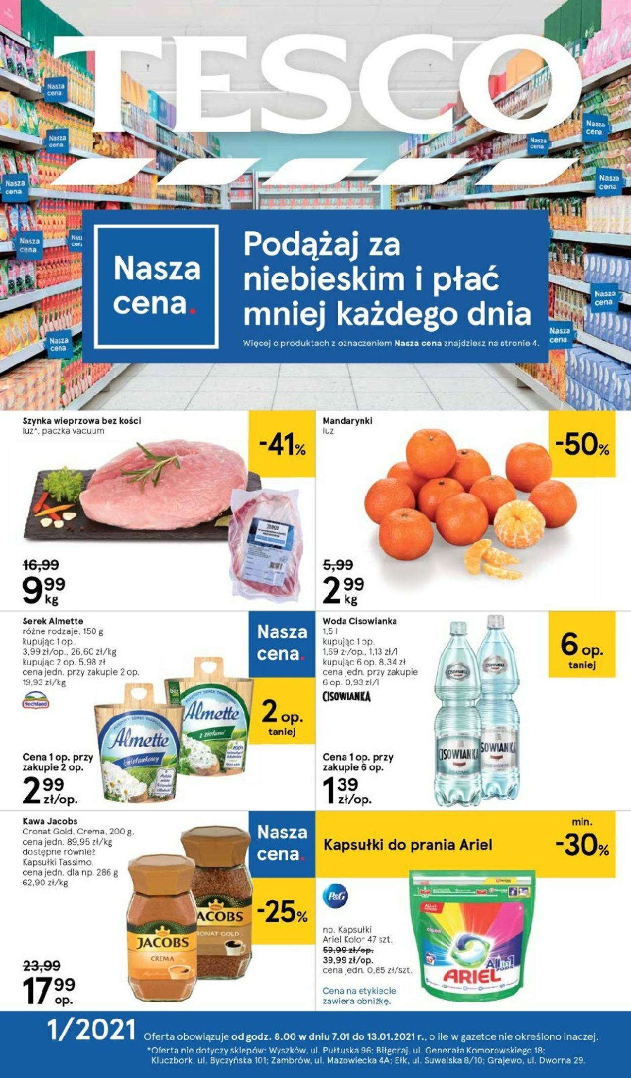 Gazetka promocyjna TESCO - 07.01-13.01.2021