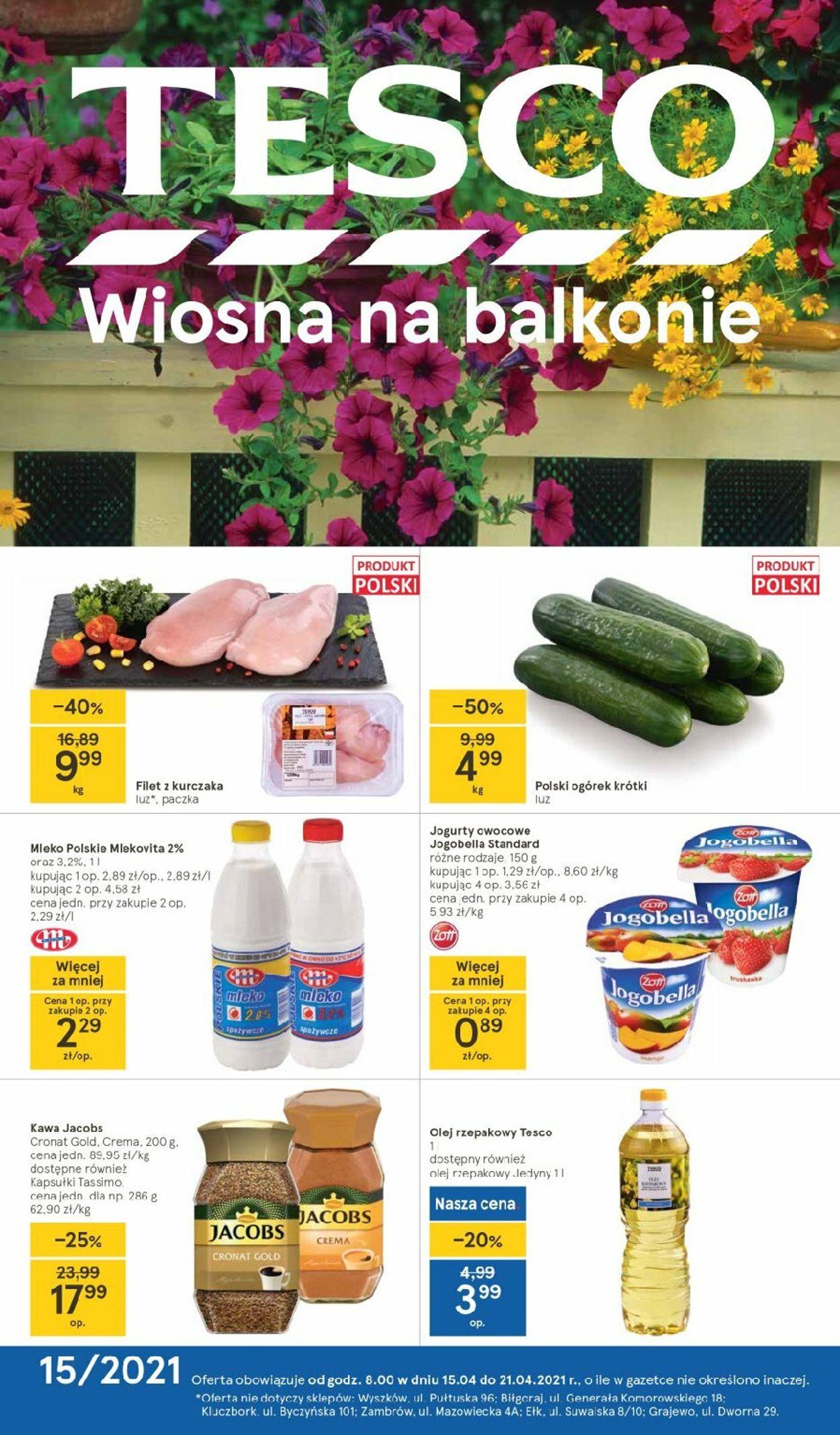 Gazetka promocyjna TESCO - 15.04-21.04.2021