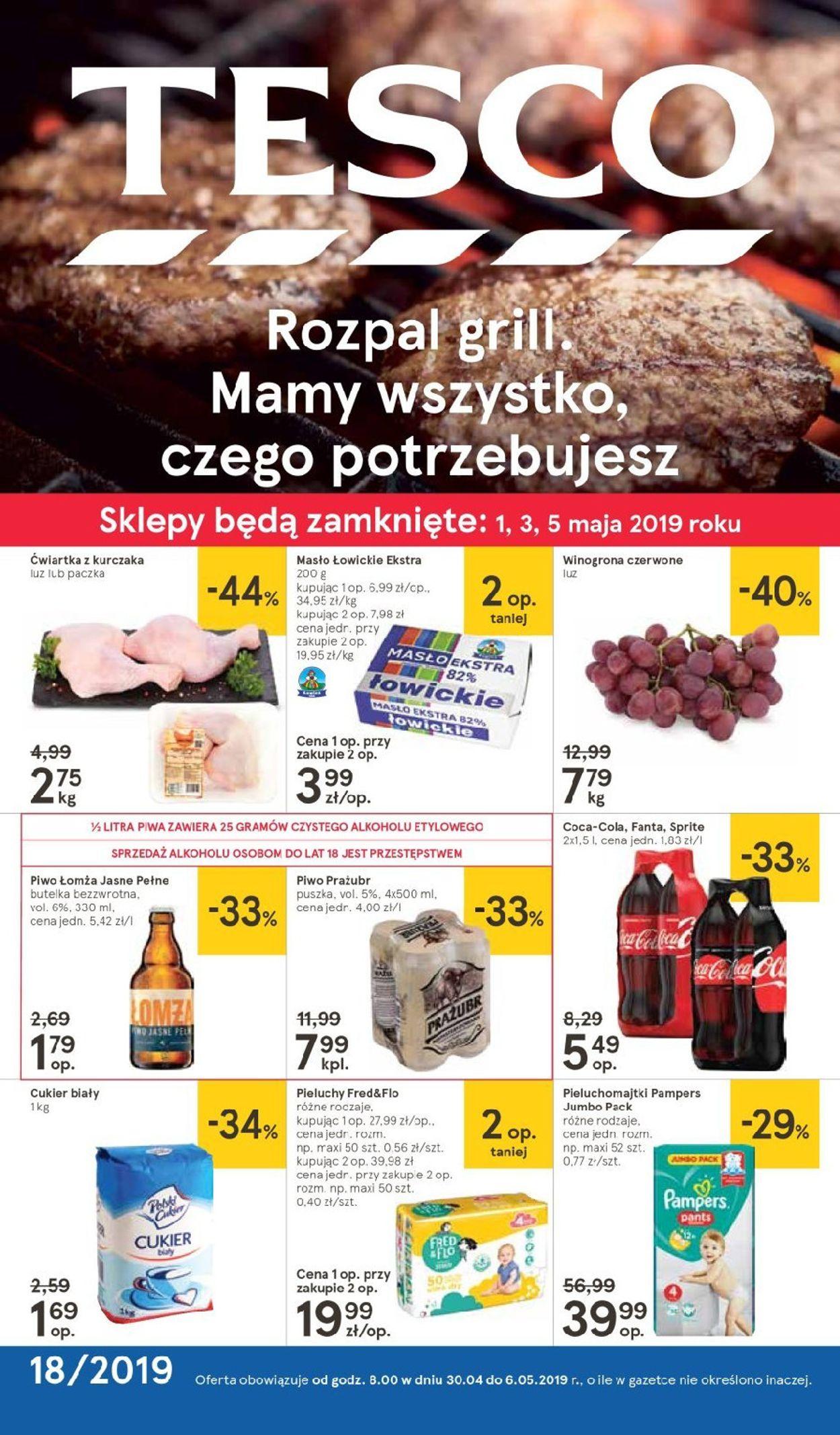 Gazetka promocyjna TESCO - 30.04-06.05.2019