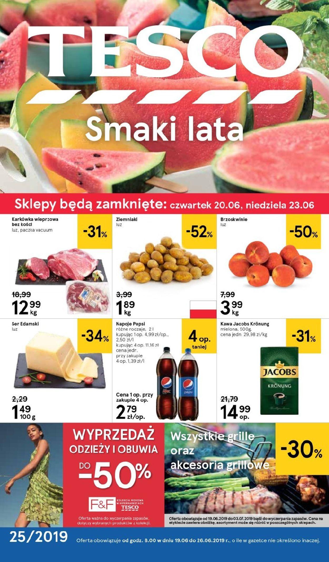 Gazetka promocyjna TESCO - 19.06-26.06.2019