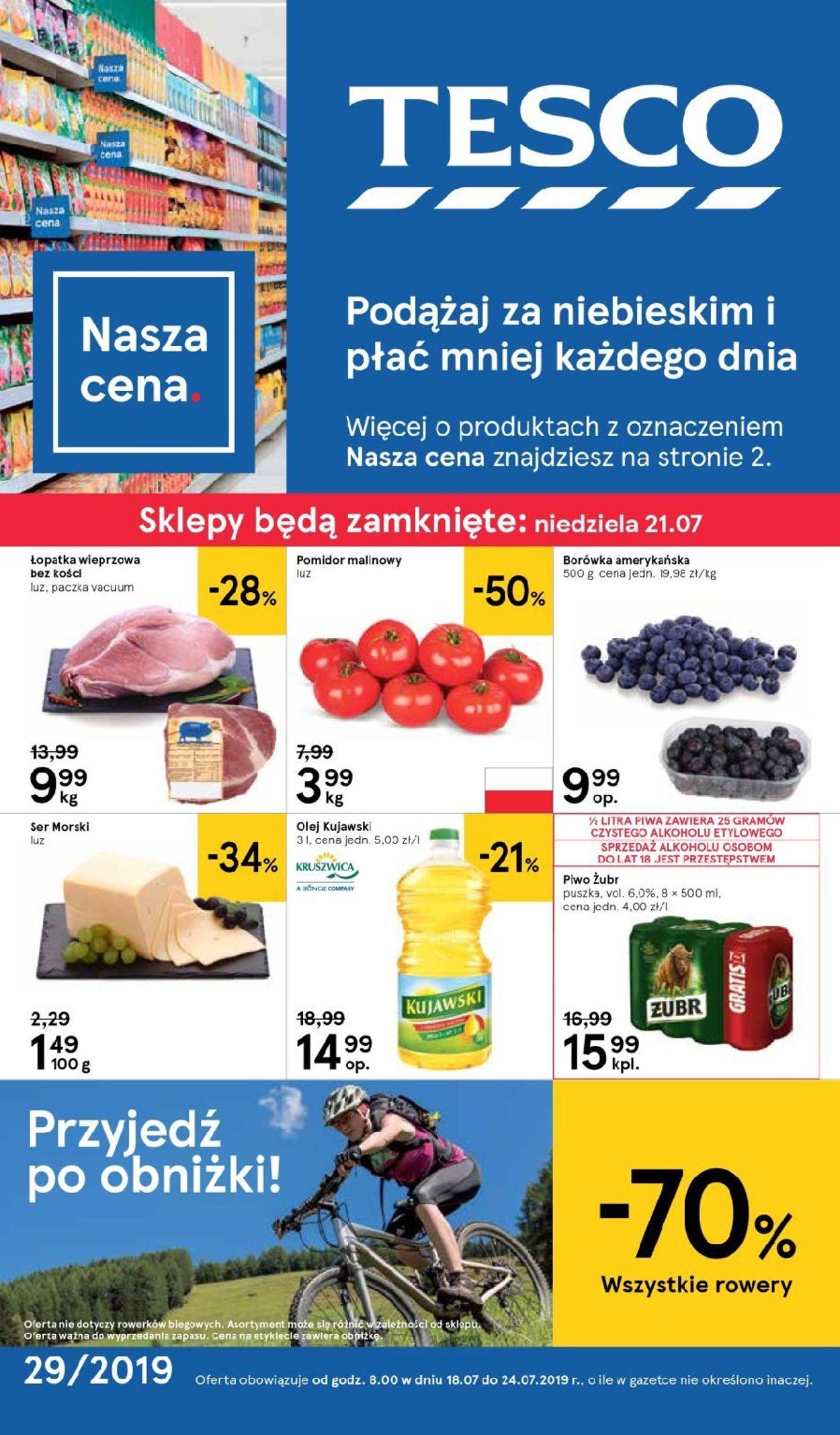 Gazetka promocyjna TESCO - 18.07-24.07.2019
