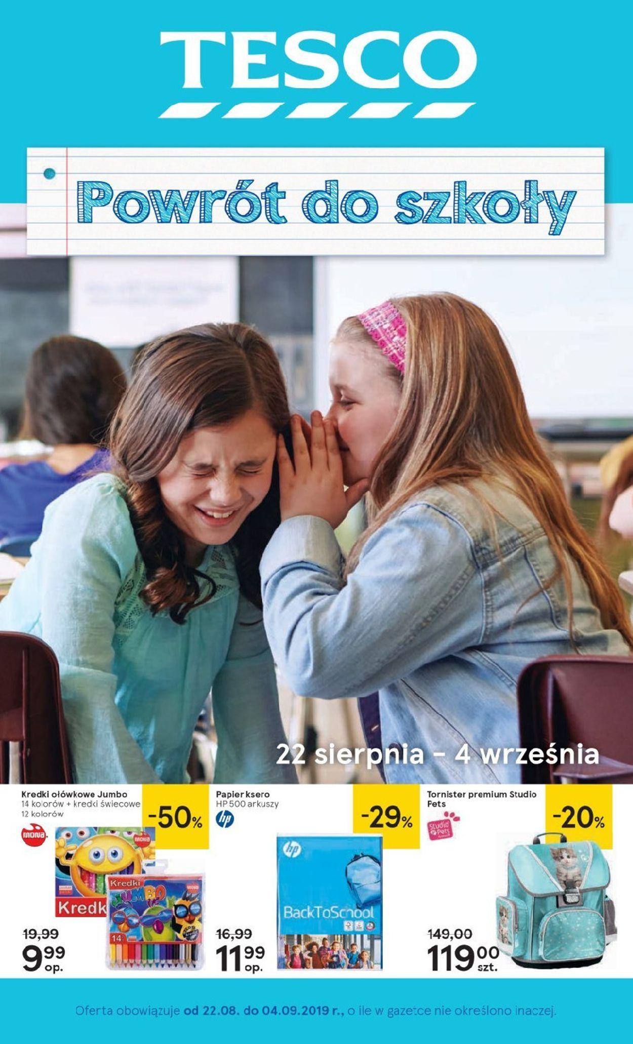 Gazetka promocyjna TESCO - 22.08-04.09.2019