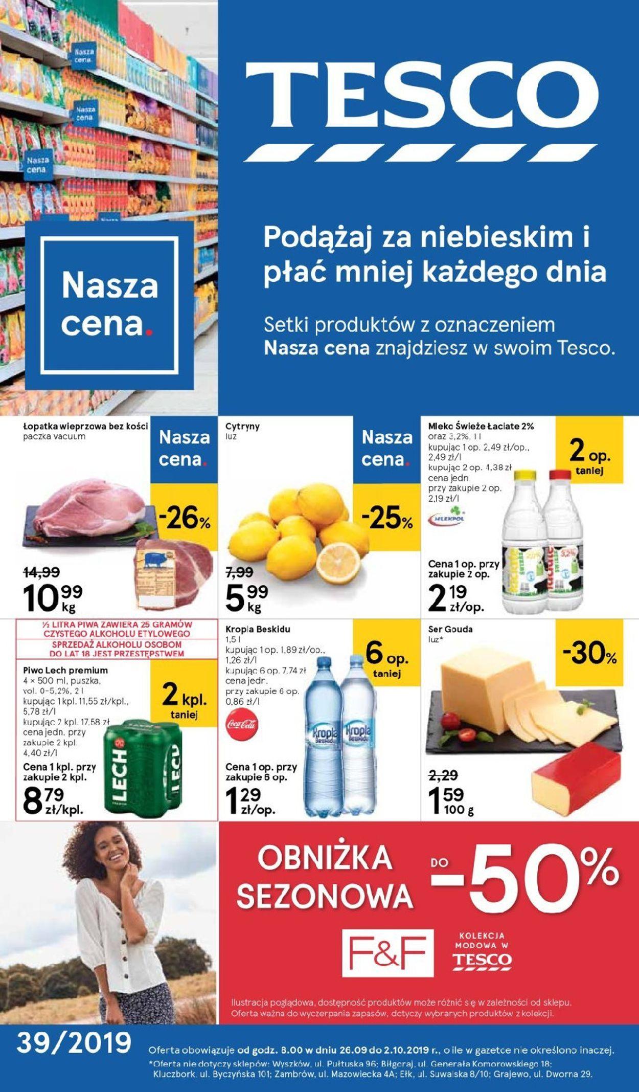 Gazetka promocyjna TESCO - 26.09-02.10.2019