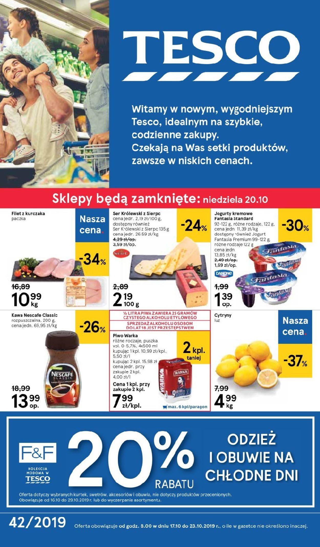 Gazetka promocyjna TESCO - 17.10-23.10.2019