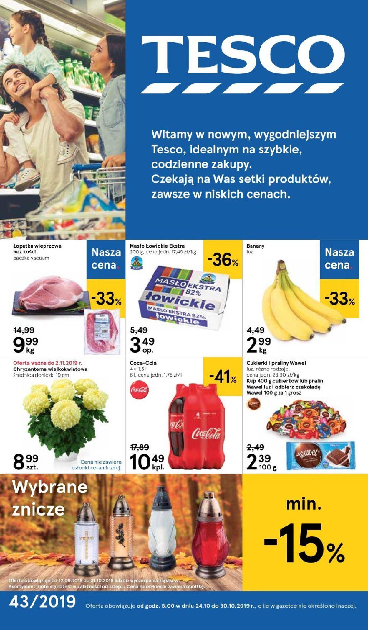 Gazetka promocyjna TESCO - 24.10-30.10.2019