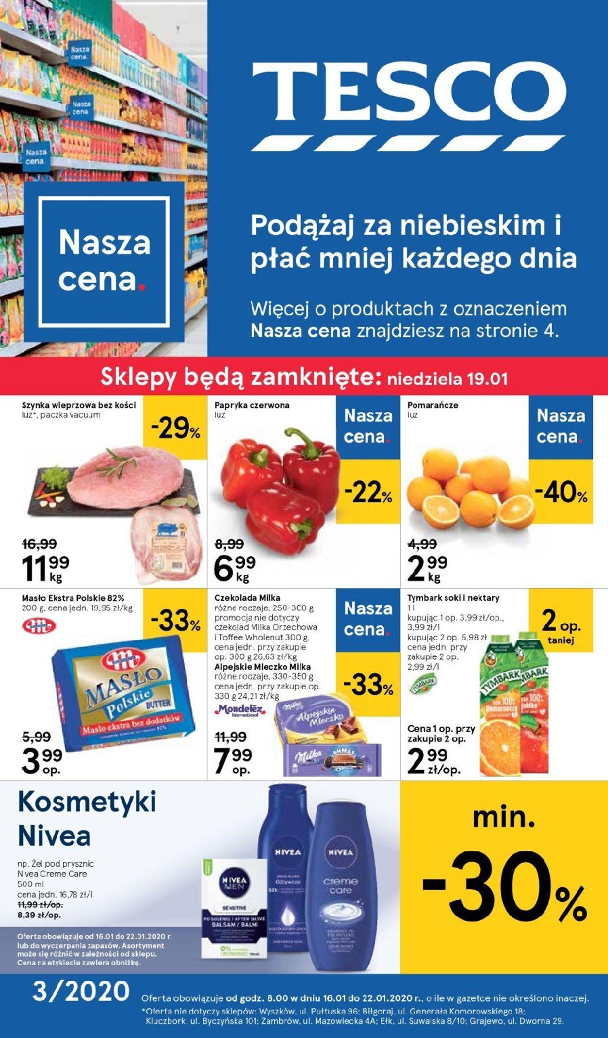 Gazetka promocyjna TESCO - 16.01-22.01.2020