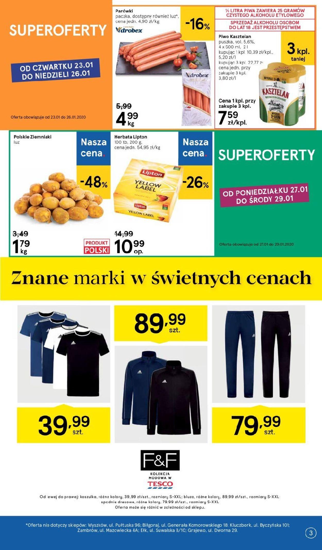 Gazetka promocyjna TESCO - 23.01-29.01.2020 (Strona 3)