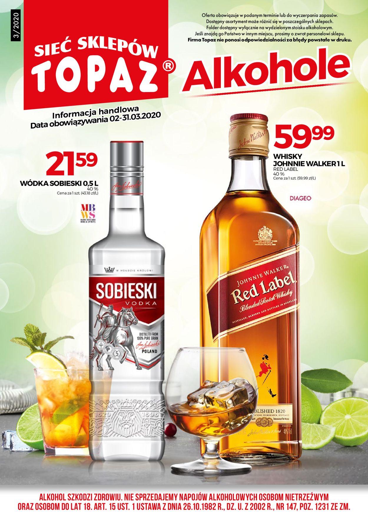 Gazetka promocyjna Topaz - 01.03-31.03.2020