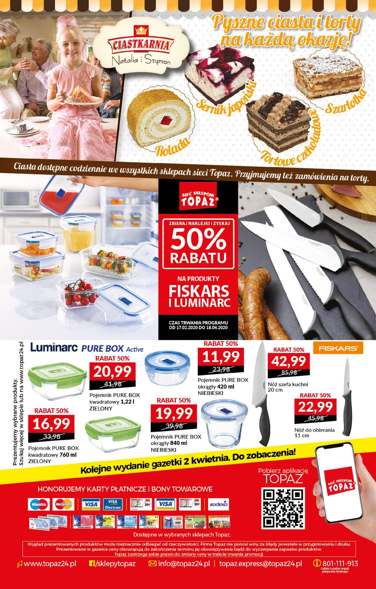 Gazetka promocyjna Topaz - 26.03-01.04.2020 (Strona 20)