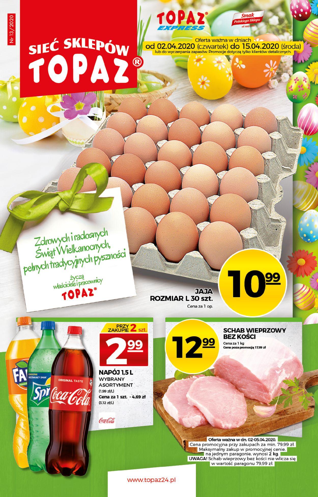 Gazetka promocyjna Topaz - 02.04-15.04.2020