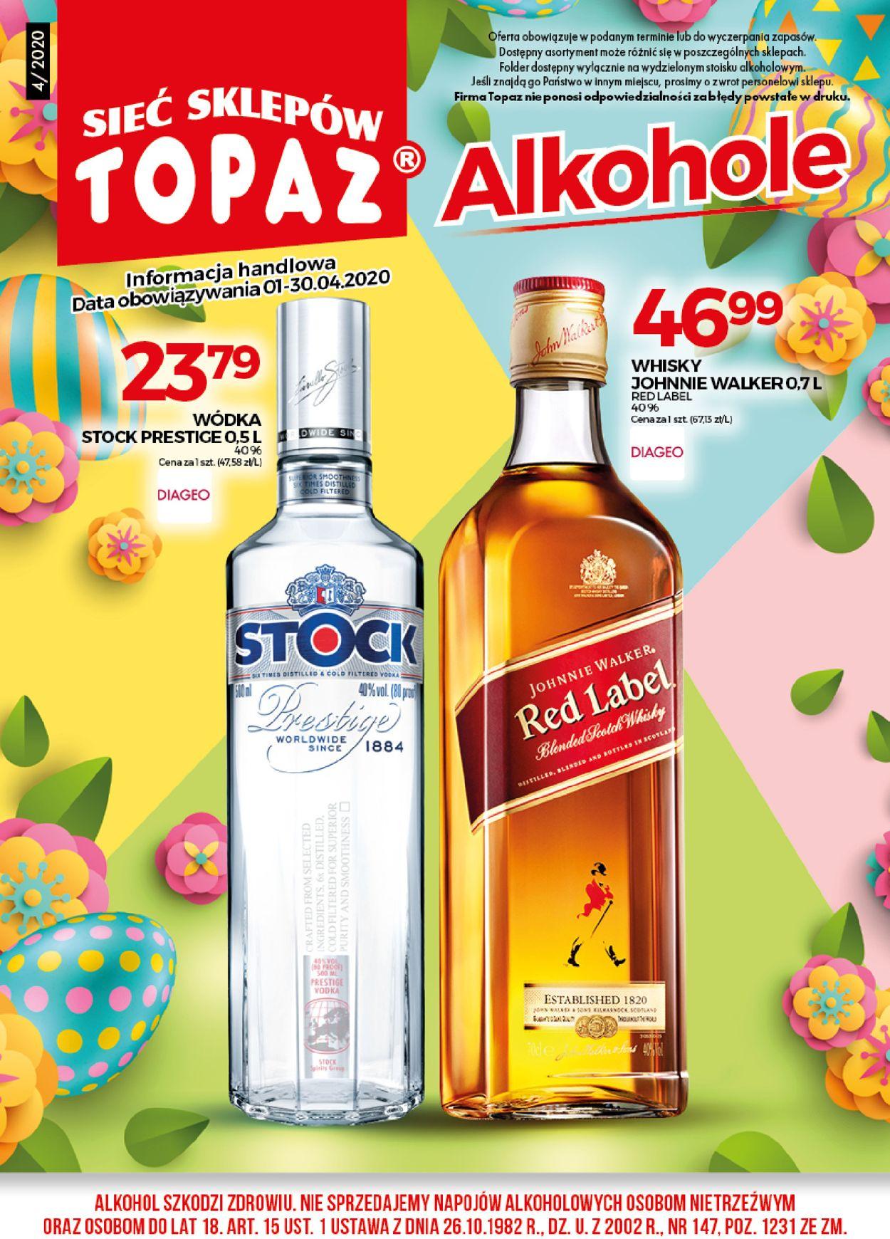 Gazetka promocyjna Topaz - 01.04-30.04.2020