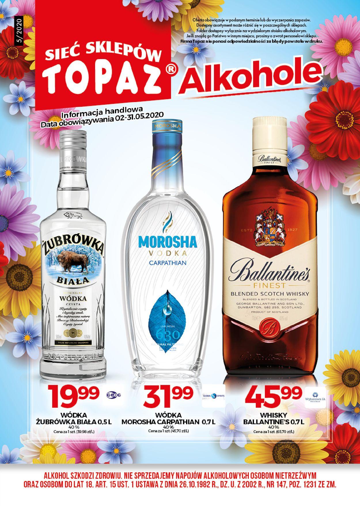 Gazetka promocyjna Topaz - 02.05-31.05.2020
