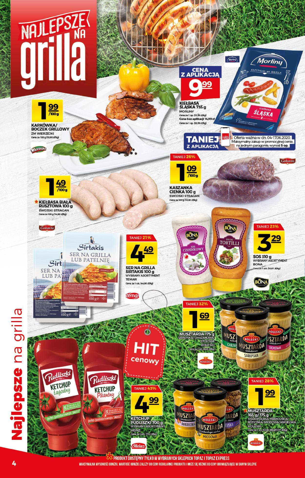 Gazetka promocyjna Topaz - 04.06-17.06.2020 (Strona 4)