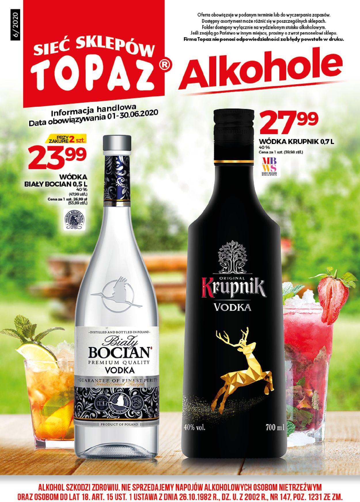 Gazetka promocyjna Topaz - 01.06-30.06.2020