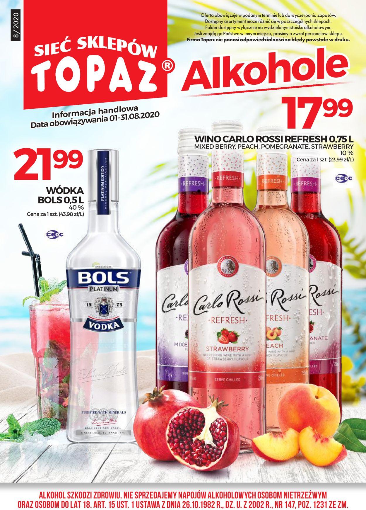 Gazetka promocyjna Topaz - 01.08-31.08.2020