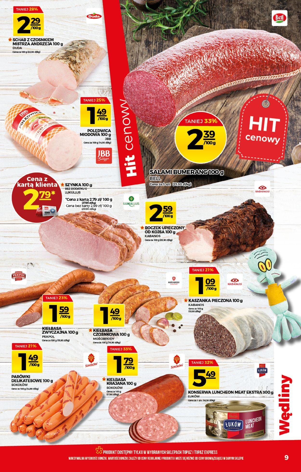 Gazetka promocyjna Topaz - 06.08-12.08.2020 (Strona 9)