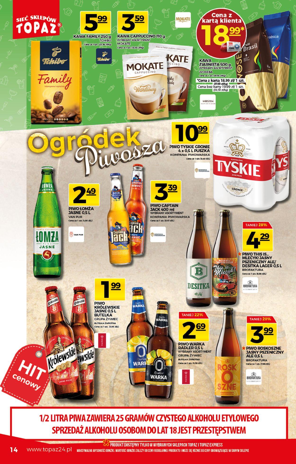 Gazetka promocyjna Topaz - 06.08-12.08.2020 (Strona 14)