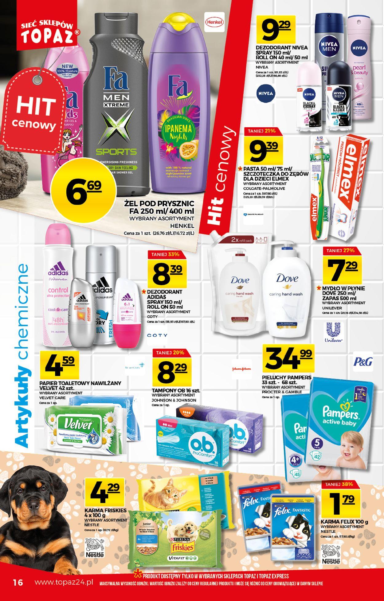 Gazetka promocyjna Topaz - 06.08-12.08.2020 (Strona 16)