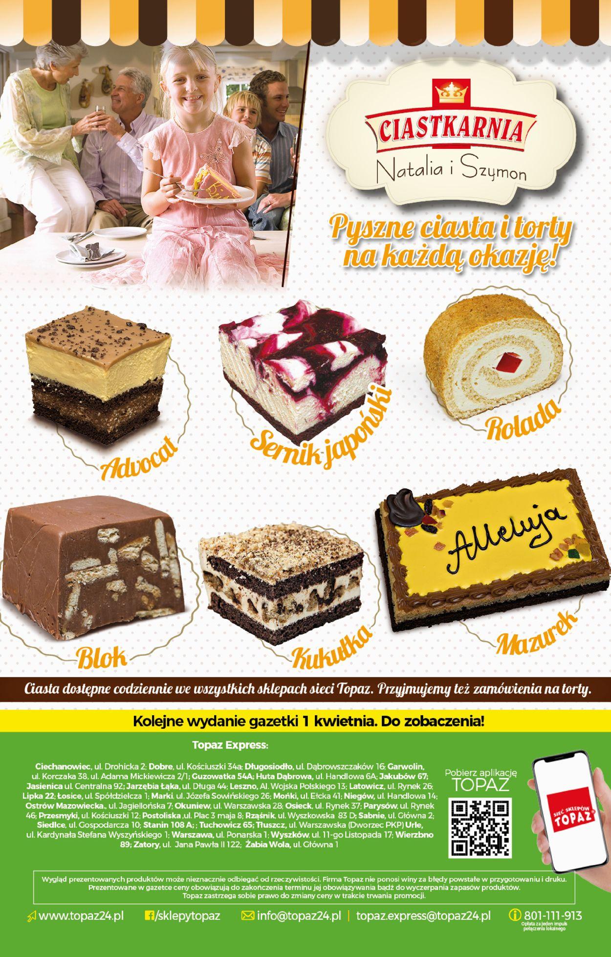 Gazetka promocyjna Topaz Wielkanoc 2021! - 25.03-31.03.2021 (Strona 20)