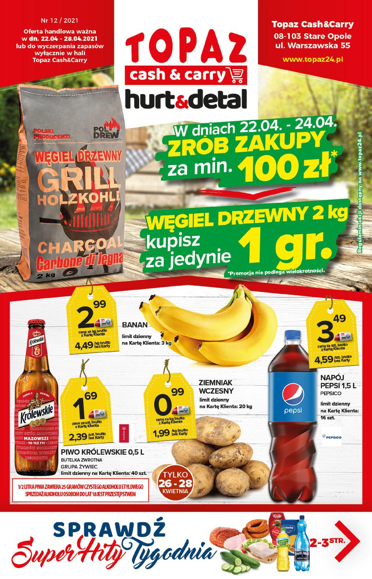 Gazetka promocyjna Topaz - 22.04-28.04.2021