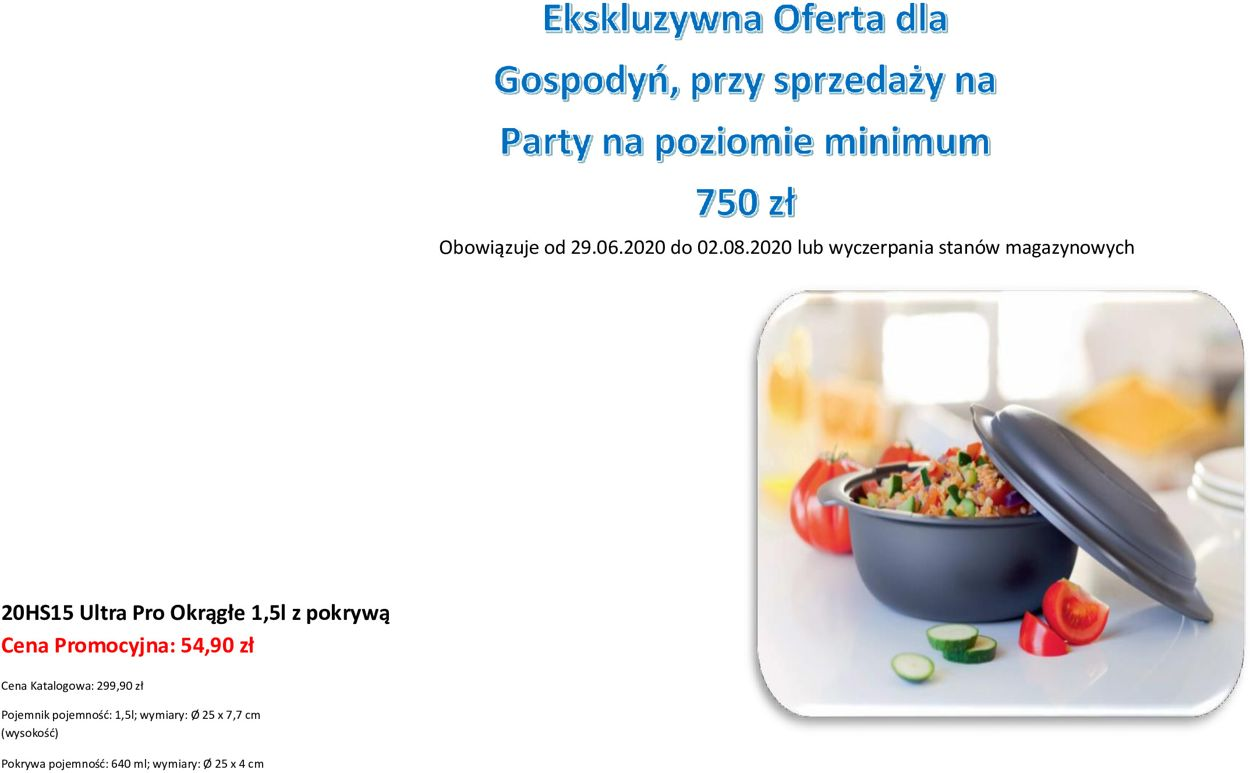 Gazetka promocyjna Tupperware - 29.06-02.07.2020