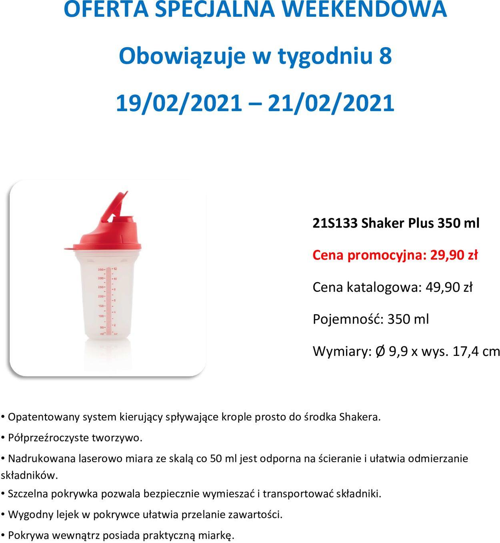 Gazetka promocyjna Tupperware Oferta Weekendowa - 19.02-21.02.2021