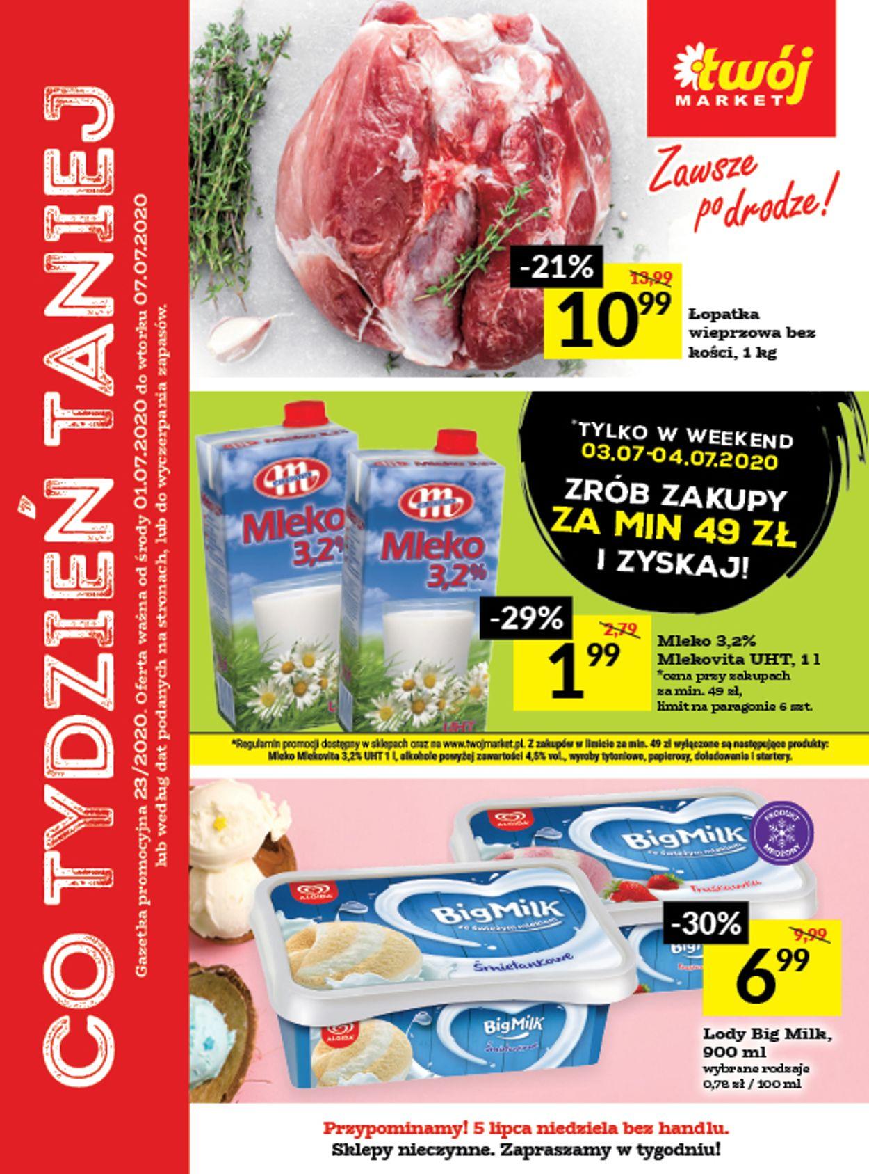 Gazetka promocyjna Twój Market - 01.07-07.07.2020