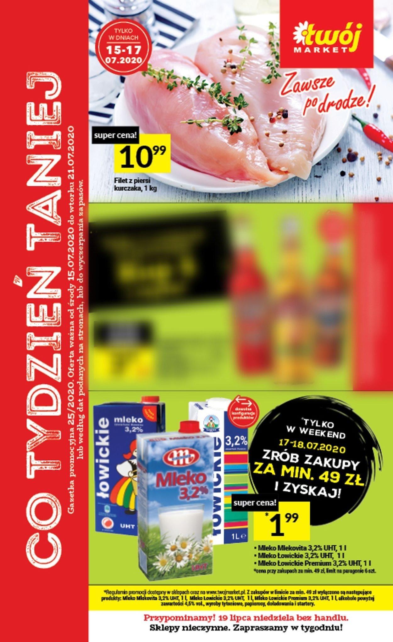 Gazetka promocyjna Twój Market - 15.07-21.07.2020