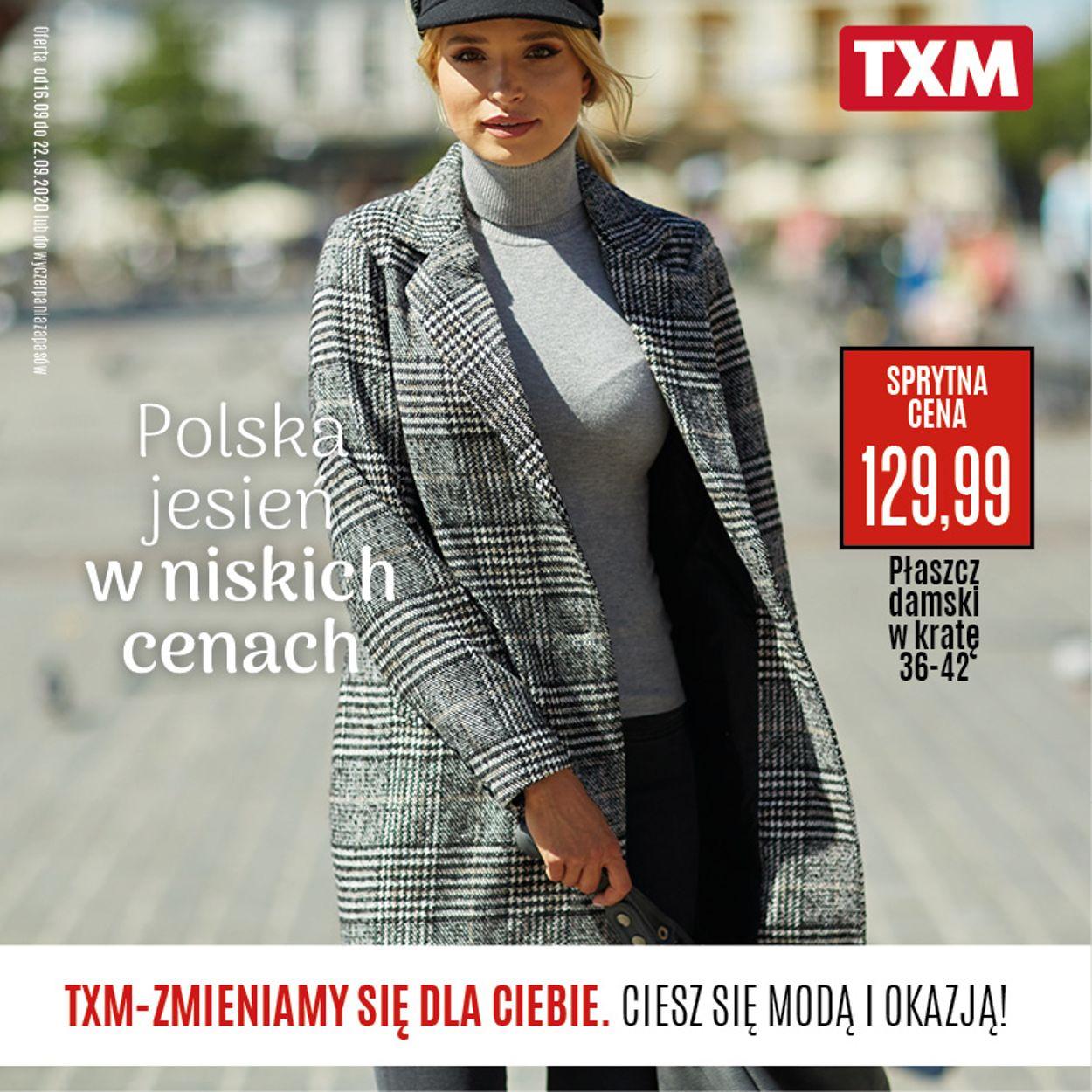 Gazetka promocyjna TXM - 16.09-22.09.2020