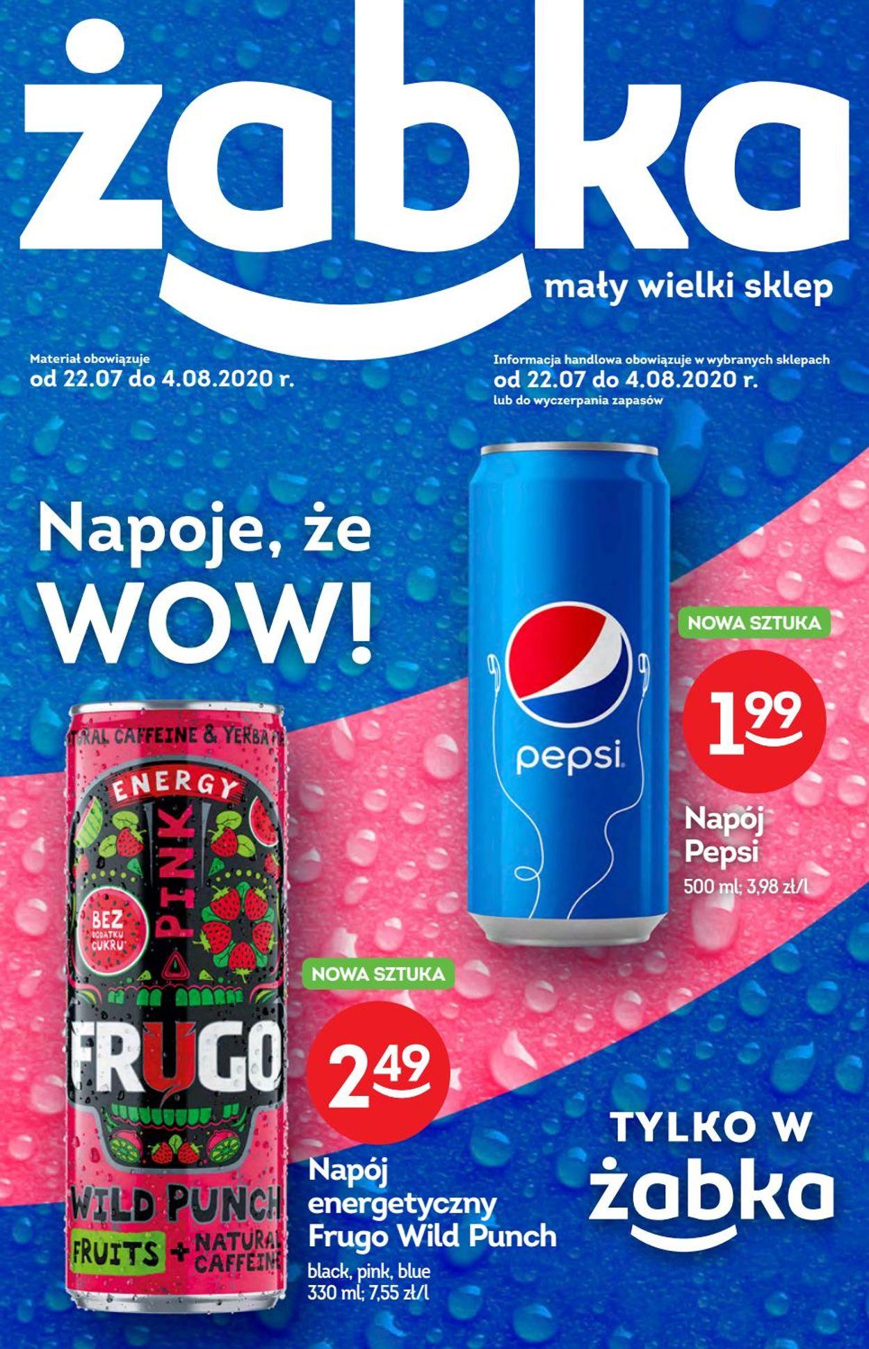Gazetka promocyjna Żabka - 22.07-04.08.2020