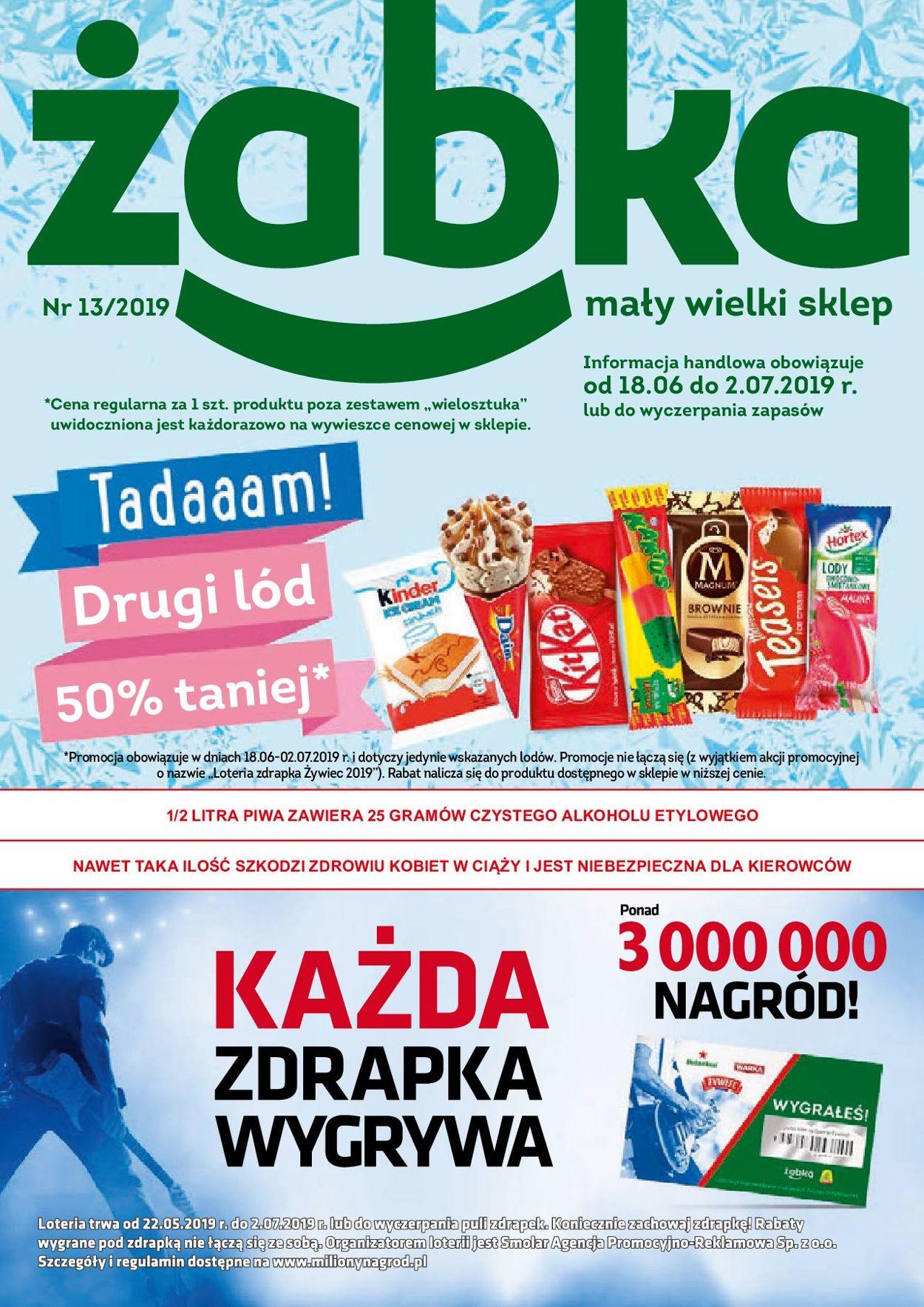 Gazetka promocyjna Żabka - 18.06-02.07.2019