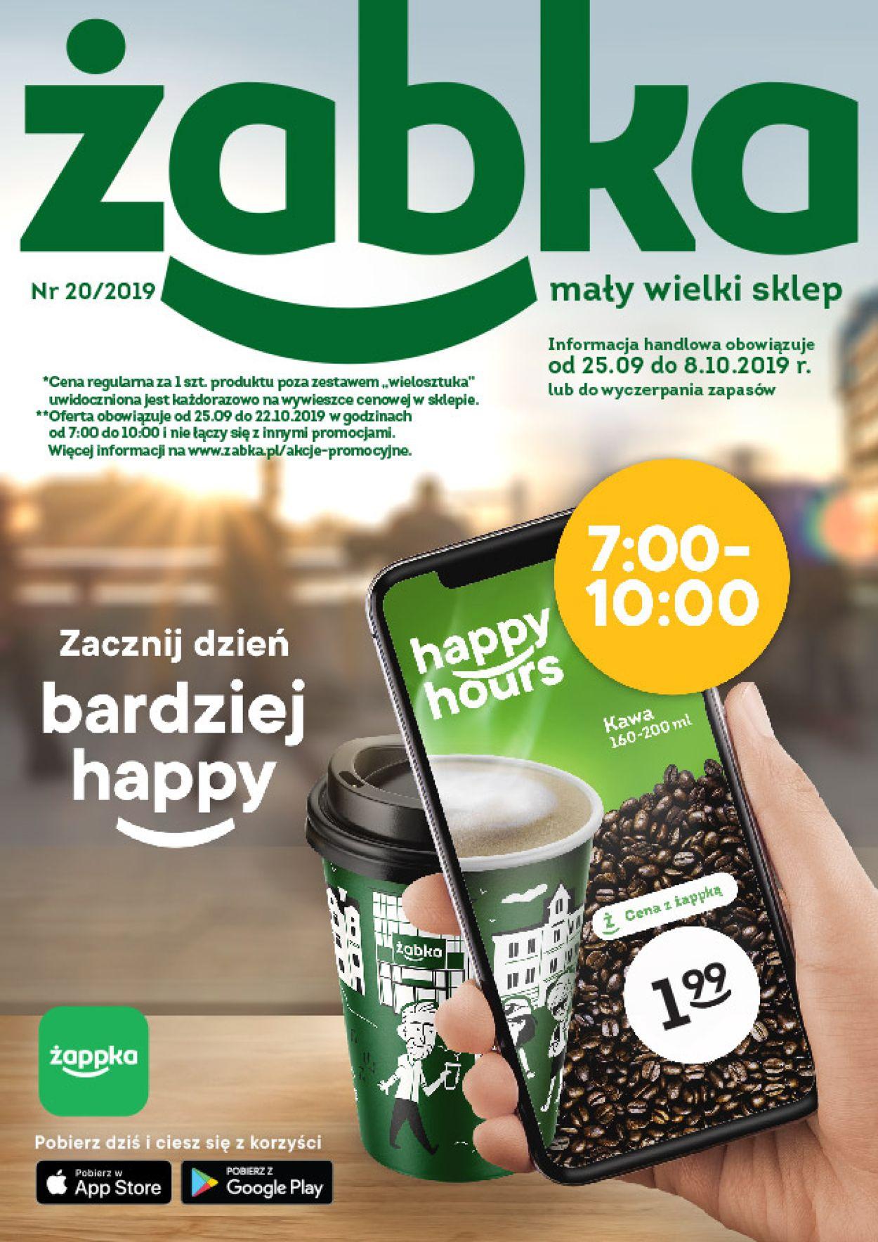 Gazetka promocyjna Żabka - 25.09-08.10.2019