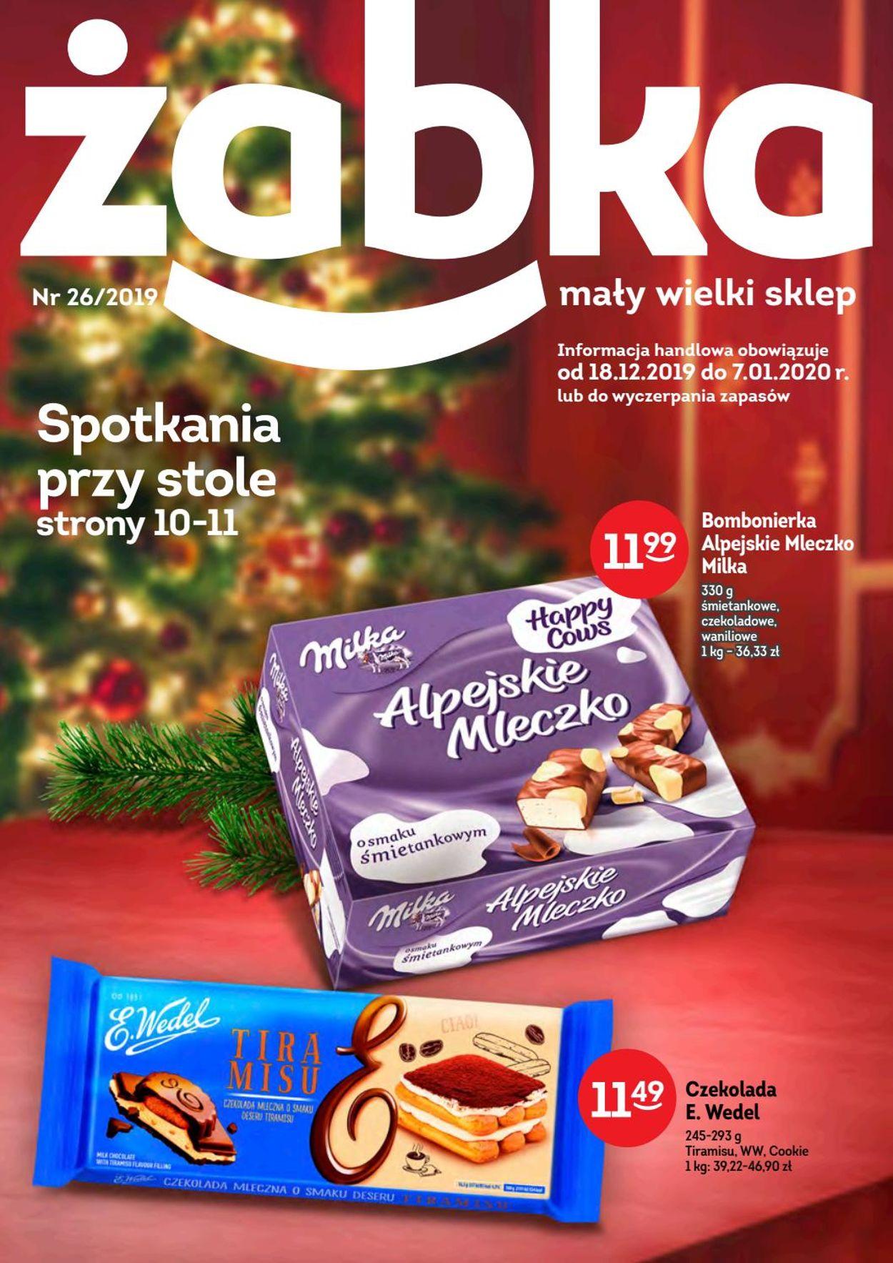 Gazetka promocyjna Żabka - 18.12-07.01.2020