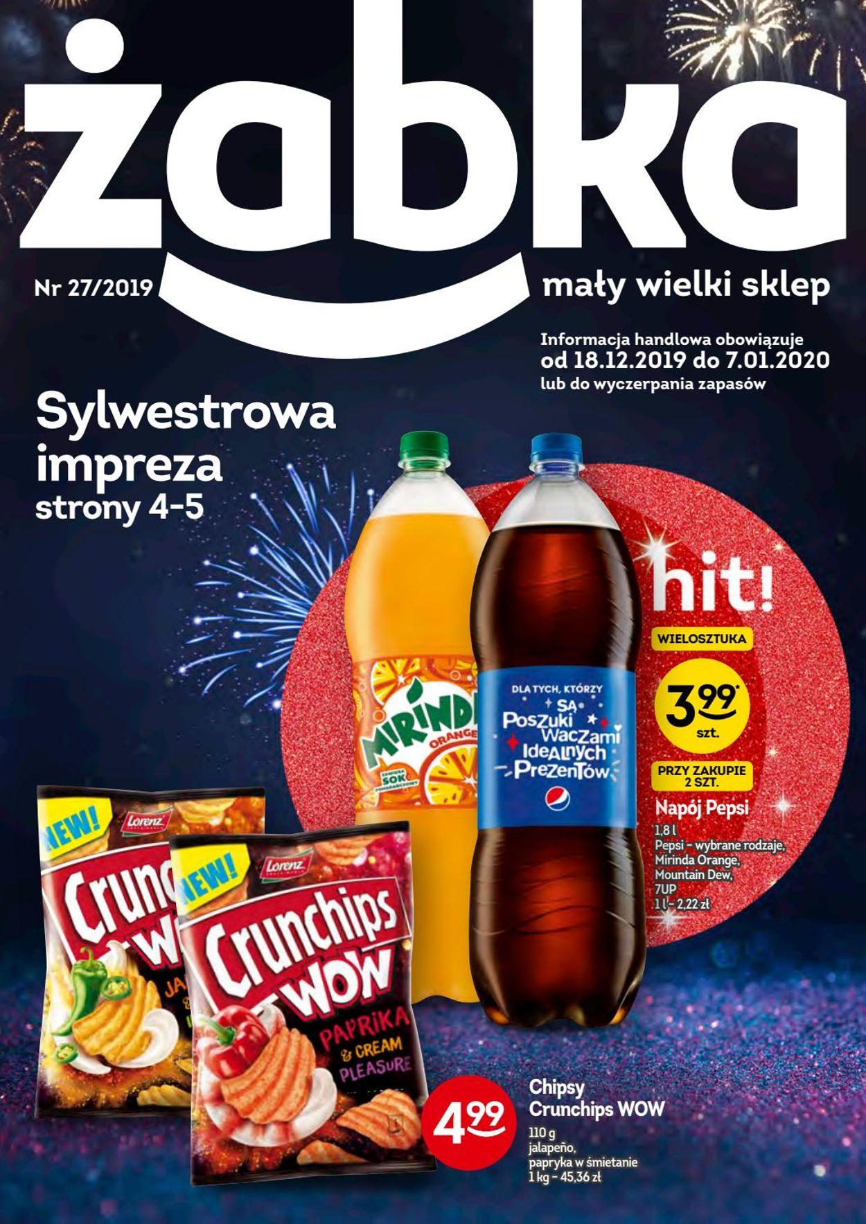 Gazetka promocyjna Żabka - Gazetka Sylwestrowa 2019/2020 - 18.12-07.01.2020