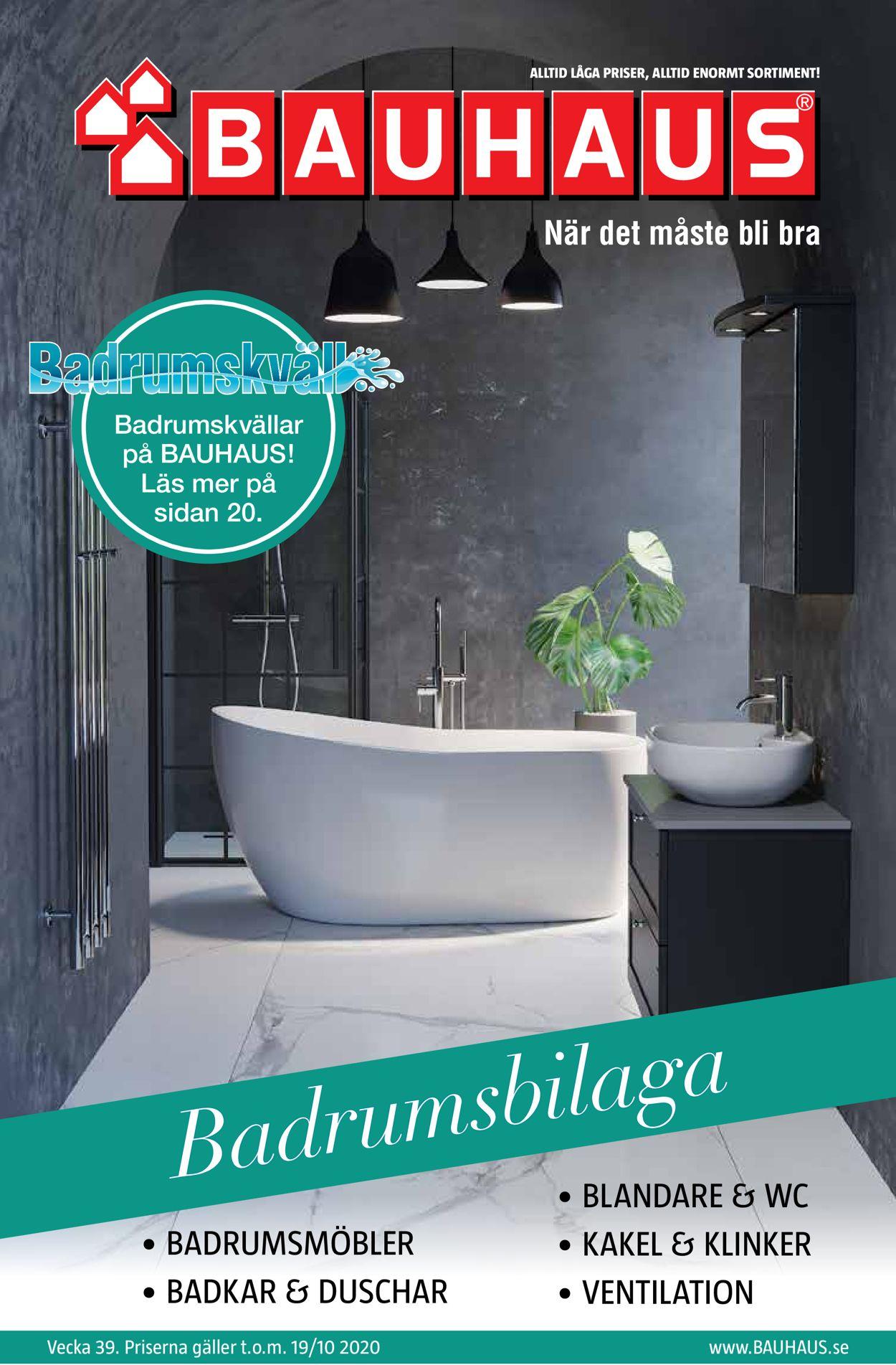 Bauhaus - Reklamblad - 20/09-19/10-2020