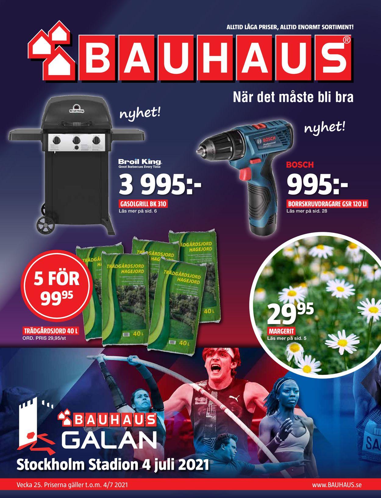 Bauhaus - Reklamblad - 23/06-04/07-2021