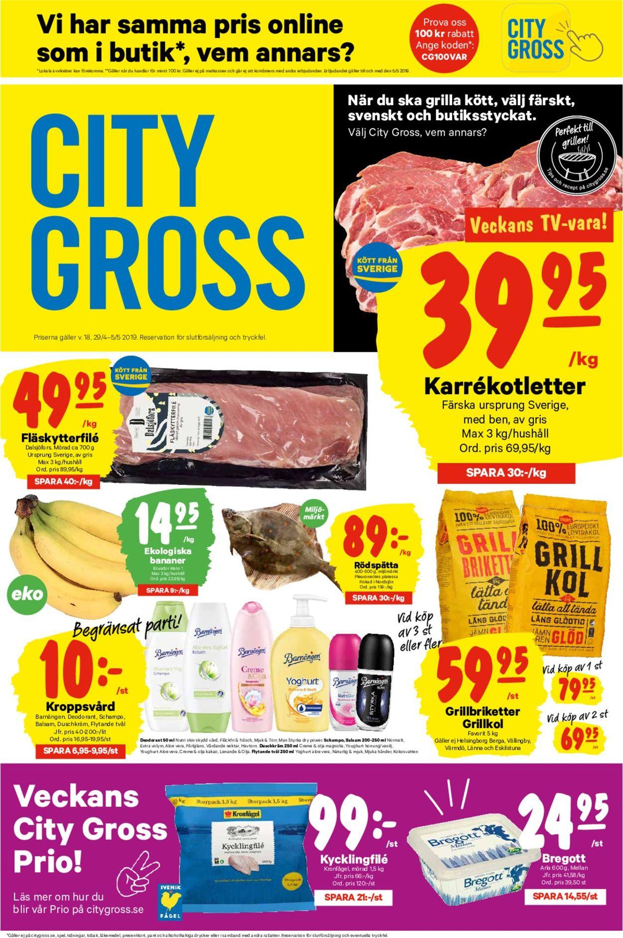 City Gross - Reklamblad - 29/04-05/05-2019