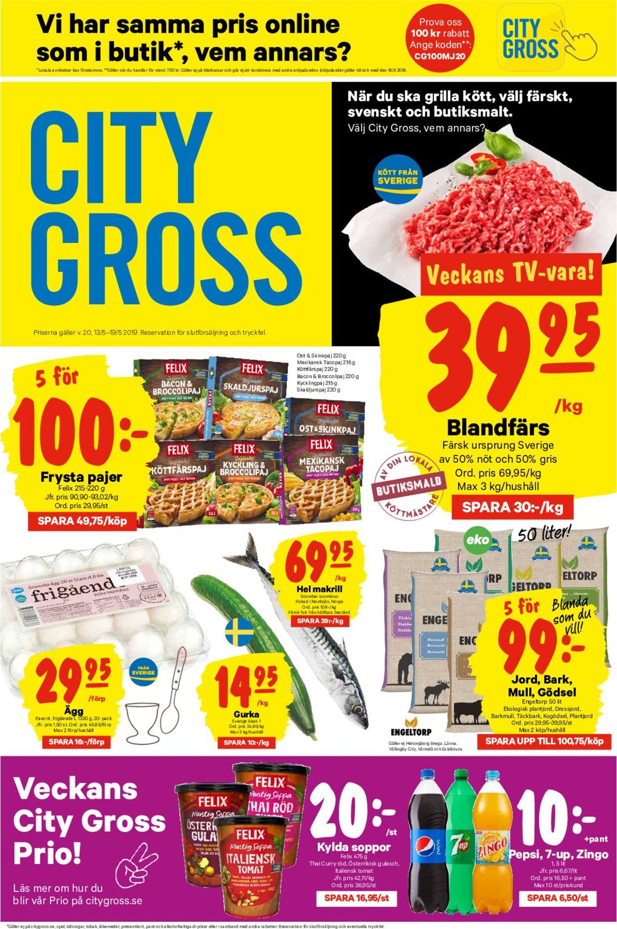 City Gross - Reklamblad - 13/05-19/05-2019