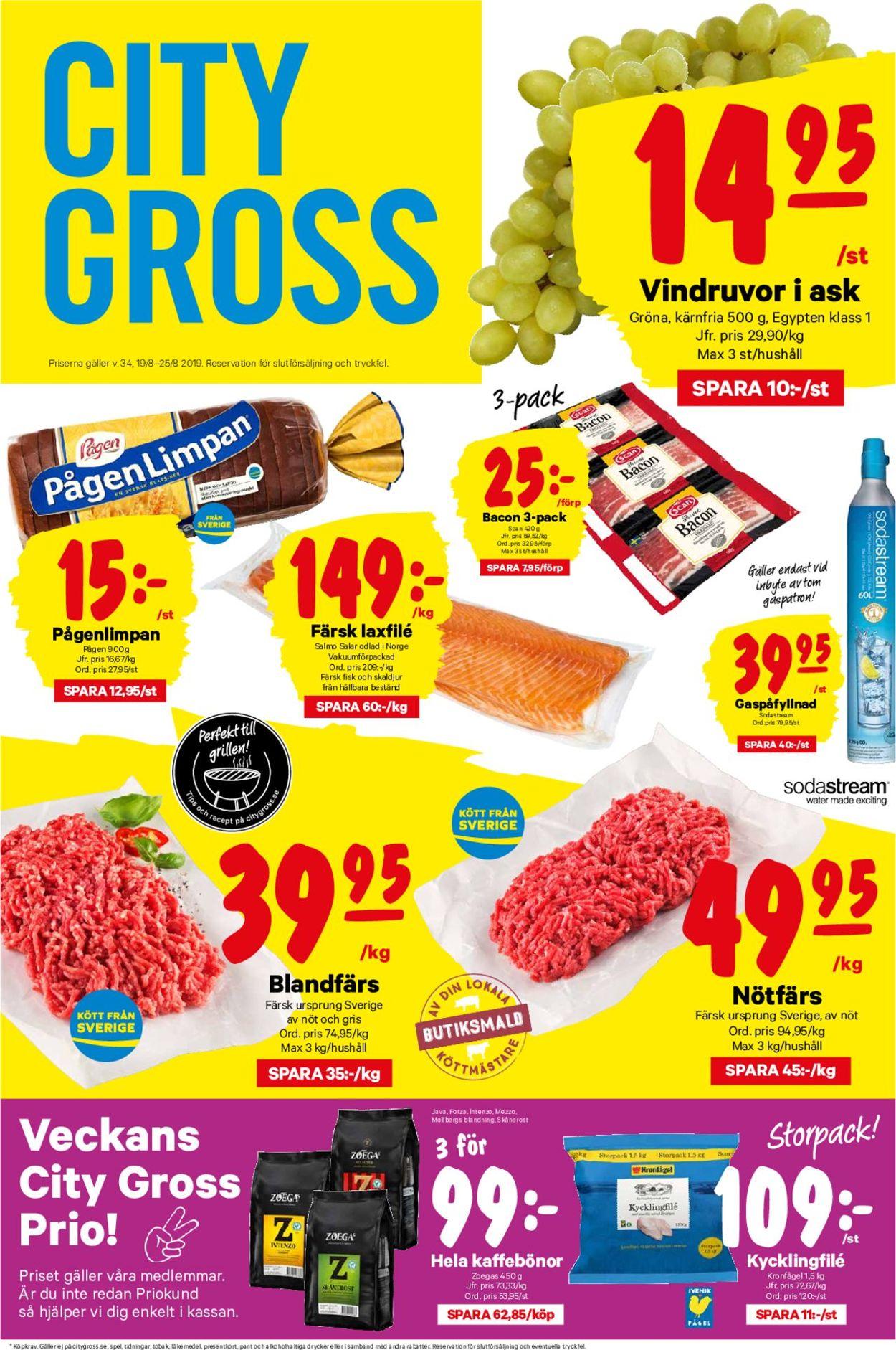City Gross - Reklamblad - 19/08-25/08-2019