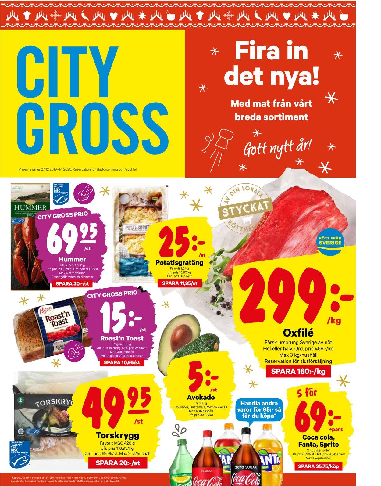City Gross - Reklamblad - 27/12-01/01-2020